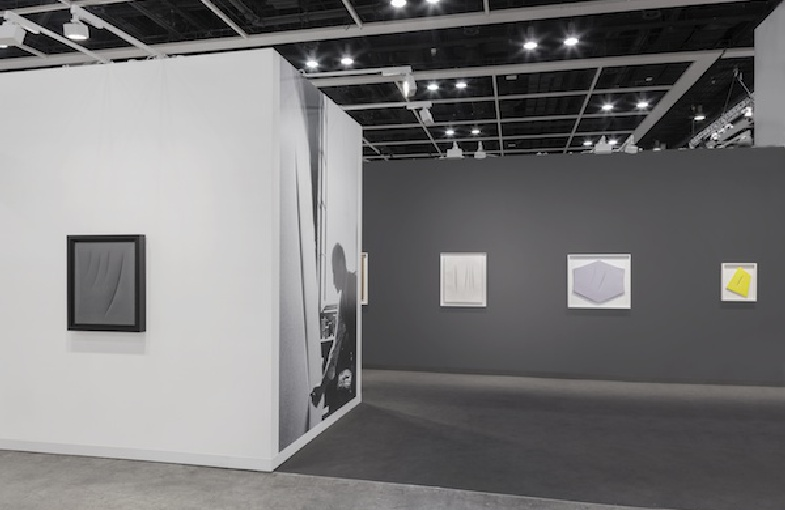 Installation view of Luxembourg & Dayan's booth at Art Basel in Hong Kong, 2017. Photo courtesy of Sebastiano Pellion di Persano.