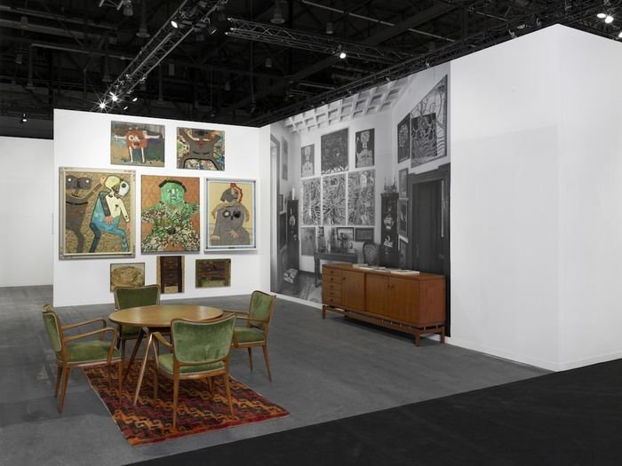 <p>Installation view of the booth. Photo: Annik Wetter. Works&#160;&#169; Archivio Baj, Vergiate, 2017.&#160;</p>