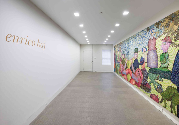 <p>Enrico Baj, installation view of <i>The Double Grande Jatte,&#160;</i>1971</p>