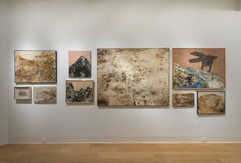 <p>Enrico Baj, installation view of the <i>Mountains</i></p>