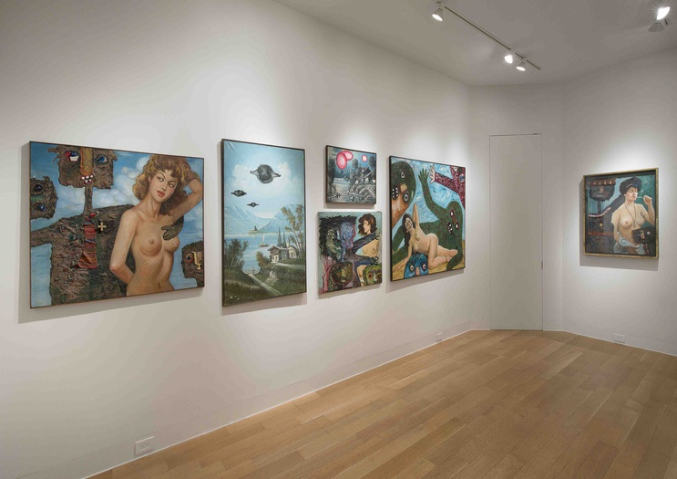 <p>Enrico Baj, installation view of the <i>Modifications</i></p>