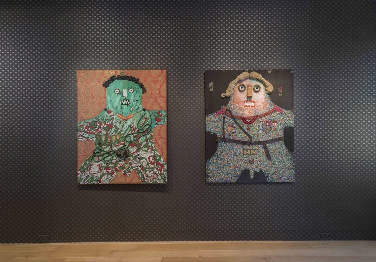 <p>Enrico Baj, installation view of the <i>Generals</i></p>