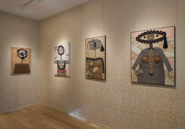 <p>Enrico Baj, installation view of the <i>Ladies</i></p>