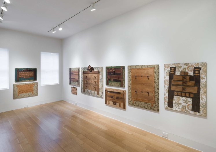 <p>Enrico Baj, installation view of the Furniture</p>