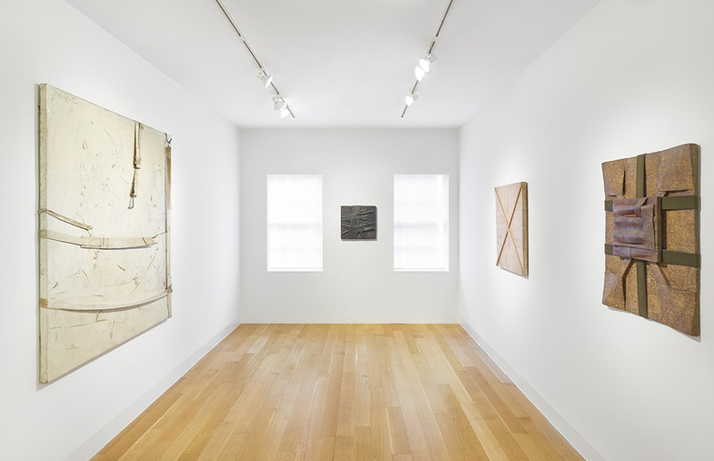 <p>Installation view of&#160;<em>Salvatore Scarpitta 1956 - 1964.</em></p>
