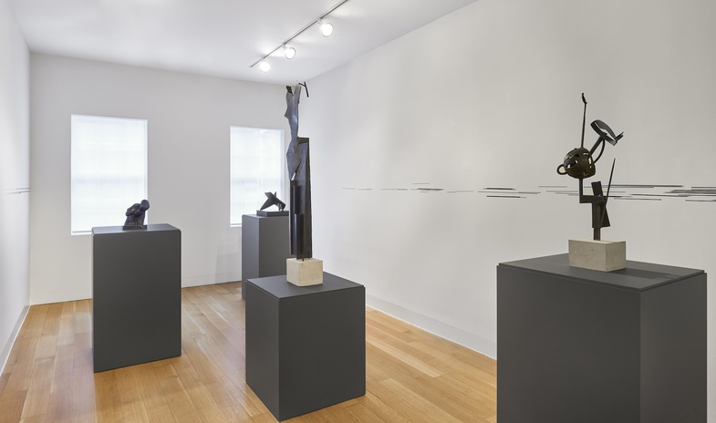 <p>Installation view of&#160;<em>Figures Toward Abstraction</em></p><p>Photo: Andy Romer</p>