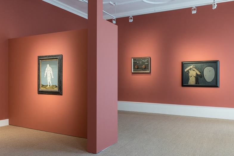 <p>Installation view of<em> Ren&#233; Magritte (Or: The Rule of Metaphor)</em>. Photo: Damien Griffiths&#160;&#169; DACS, London and ADAGP, Paris, 2018.</p>