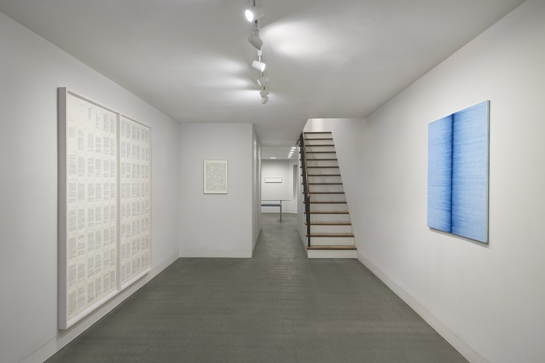 Installation view of Irma Blank: Painting Betweent the Lines.  Photo: Andy Romer.