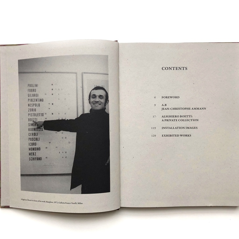 Alighiero Boetti: A Private Collection inside page