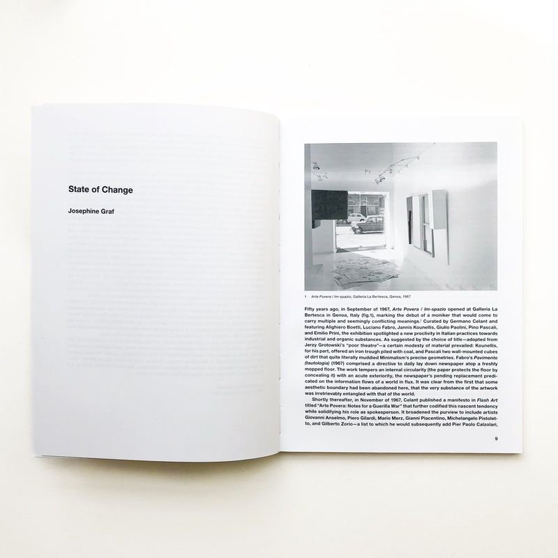 Contingencies: Arte Povera and After inside page